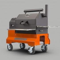 Yoder YS640 Hardwood Pellet Cooker on Competition Cart